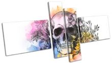 Tattoo Skull Grunge Floral Graffiti - 13-0131(00B)-MP08-LO